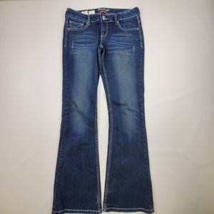 AMETHYST HEAVY STITCH  BOOT CUT JEANS SIZE 5